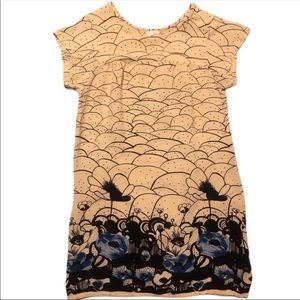 Lux Tunic Cream Black Blue Printed Urban Outfitter